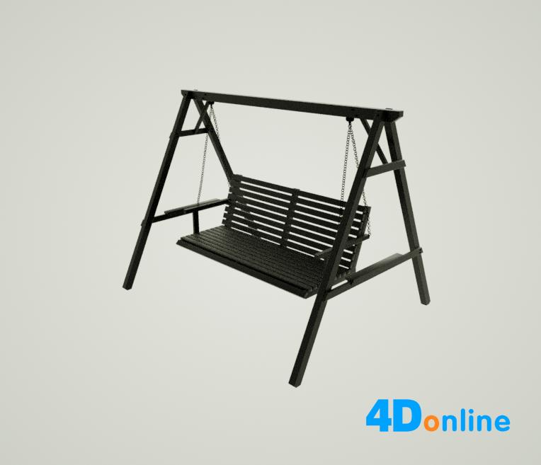 c4d秋千椅子模型