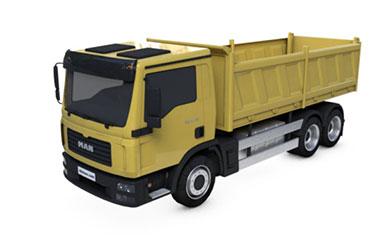 c4d卡车MAN货车模型