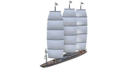 c4d帆船模型