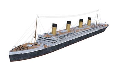 c4d大型运输船模型