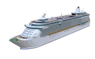 c4d大型豪华游轮船模型