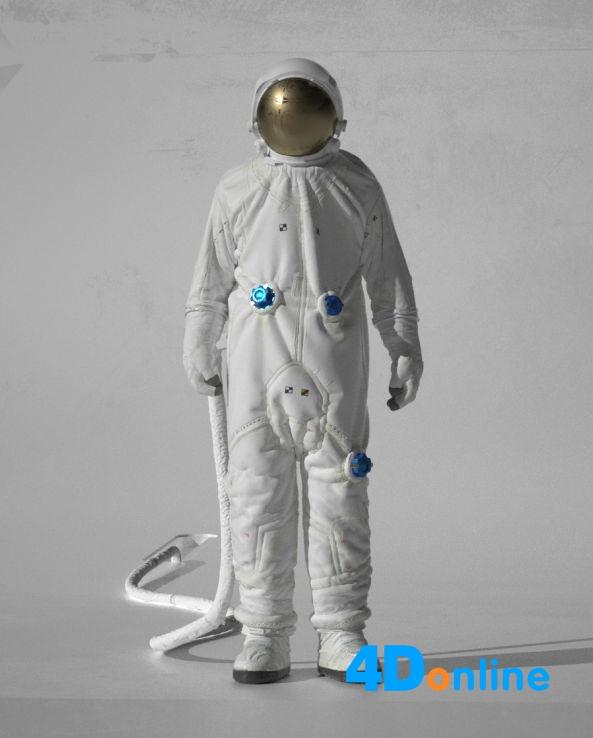 c4d精品宇航员人物模型下载