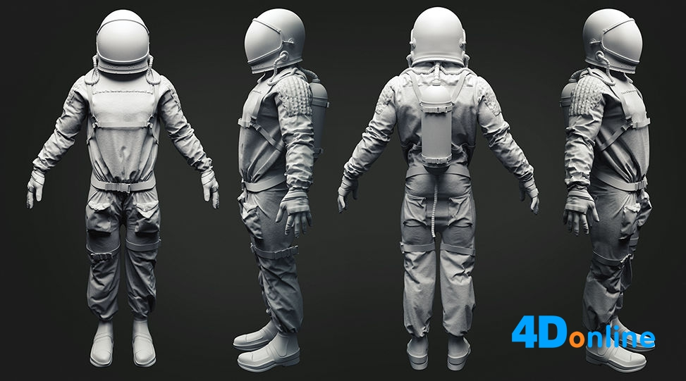 c4d宇航员模型下载