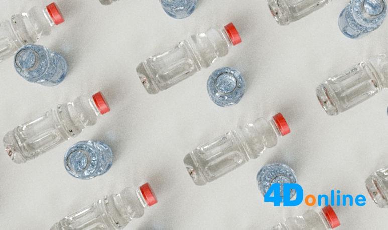c4d矿泉水塑料瓶模型