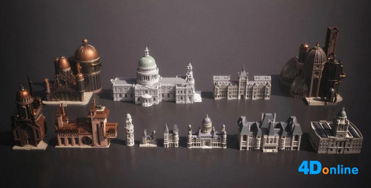 c4d美国白宫建筑欧式城市宫殿模型