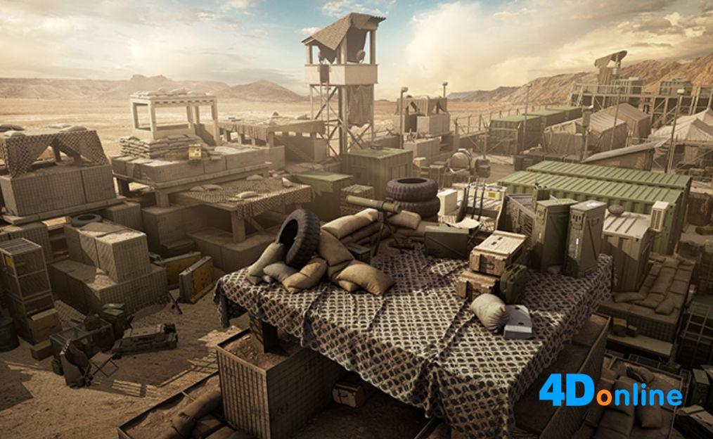 c4d游戏军事基地哨所帐篷模型