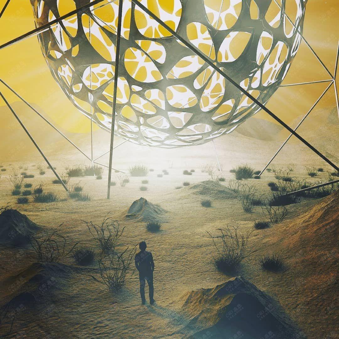 外太空科幻创意场景模型