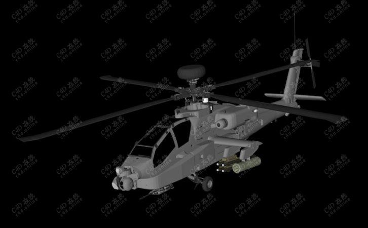 Apache阿帕奇武装直升机军事飞机武器模型