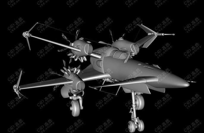 战术机军事飞机科幻飞行器模型