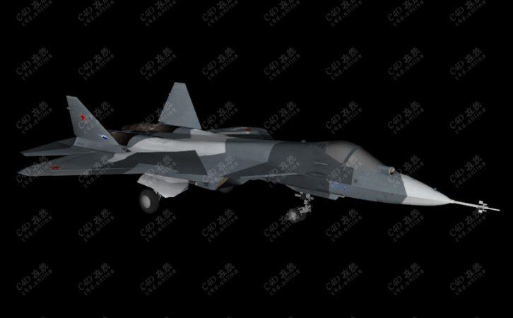 俄罗斯PAK FA Su-57战斗机模型