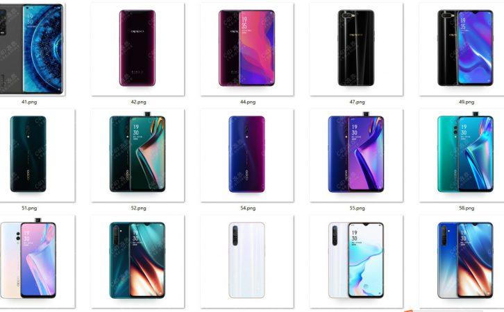 各型号OPPO手机贴图系列高清白底图