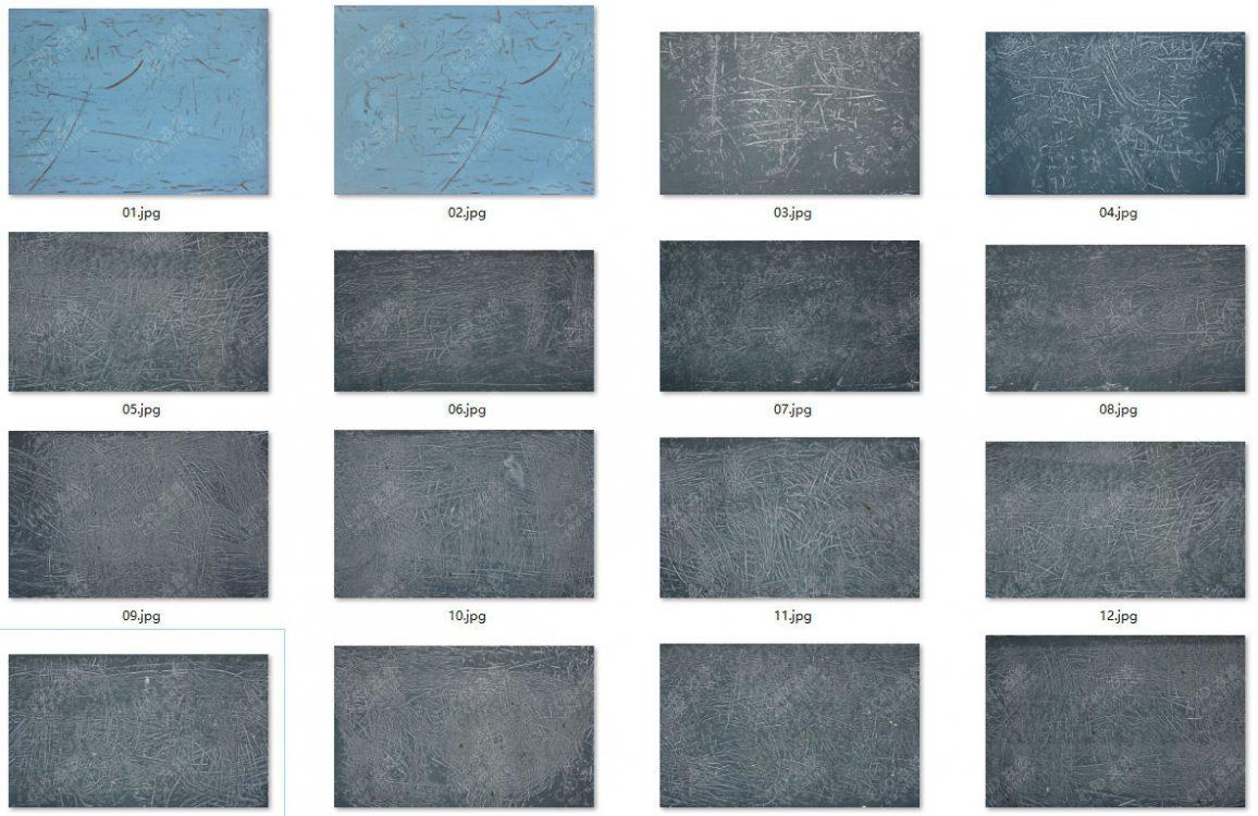 16张划痕纹理贴图高清素材图片