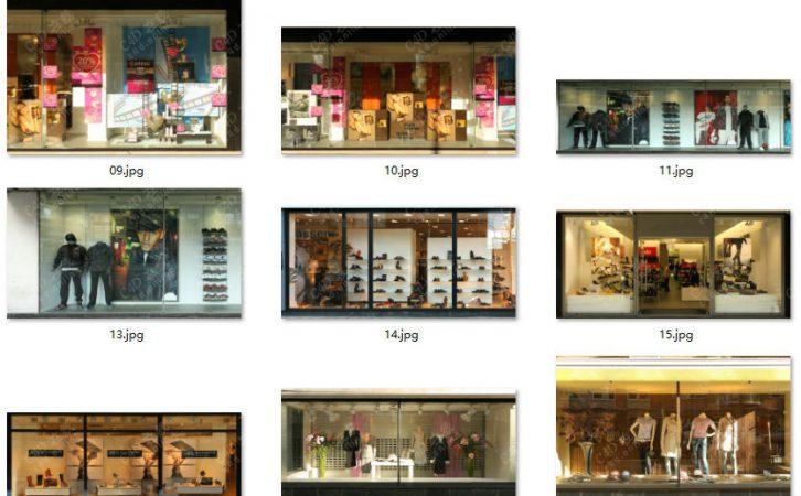 高清素材商场门店橱窗店铺图片