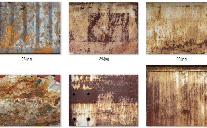 121张腐蚀生锈划痕铁皮贴图素材
