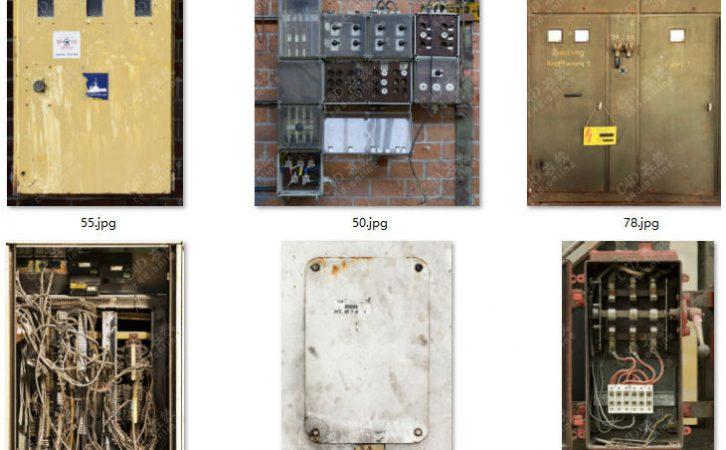 87张保险丝盒电路机电箱贴图素材