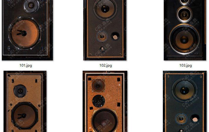 137个音频设备音响喇叭贴图素材