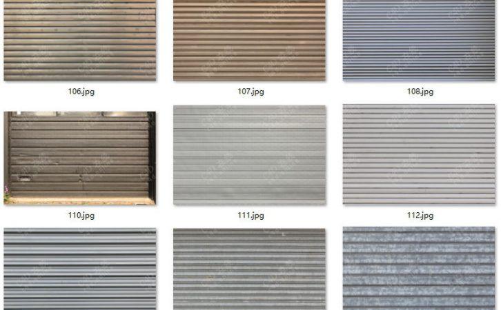 159张高清金属卷帘门商铺店面门贴图素材