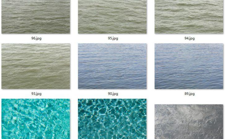 187张高清水面海水湖水贴图素材