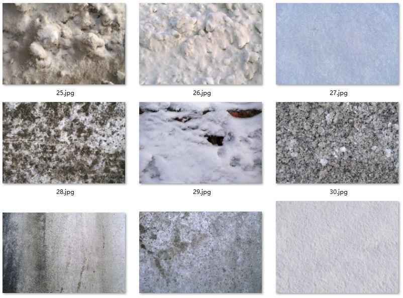 277张高清雪地积雪白雪贴图素材