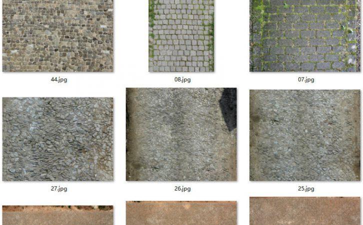 60张道路地面砖石路贴图素材