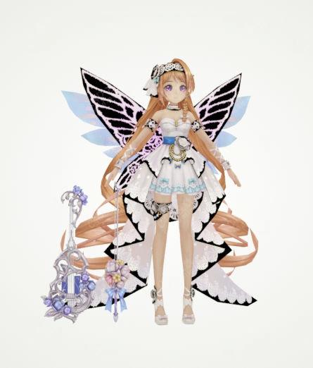 蝴蝶仙女公主游戏卡通手办动漫模型