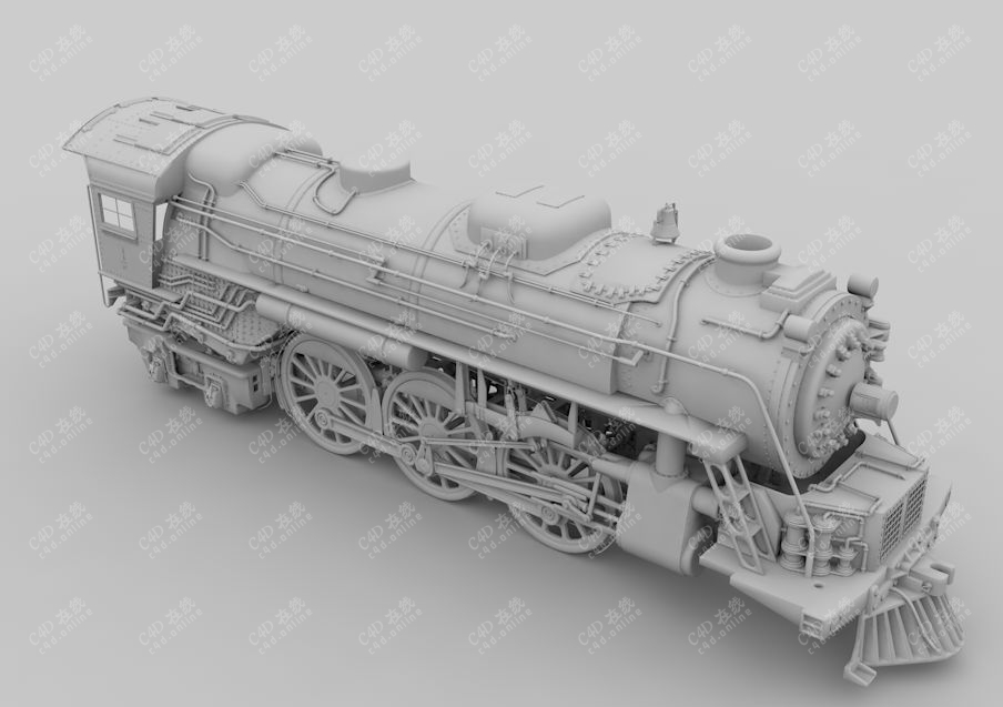 高精度复古火车头火车模型