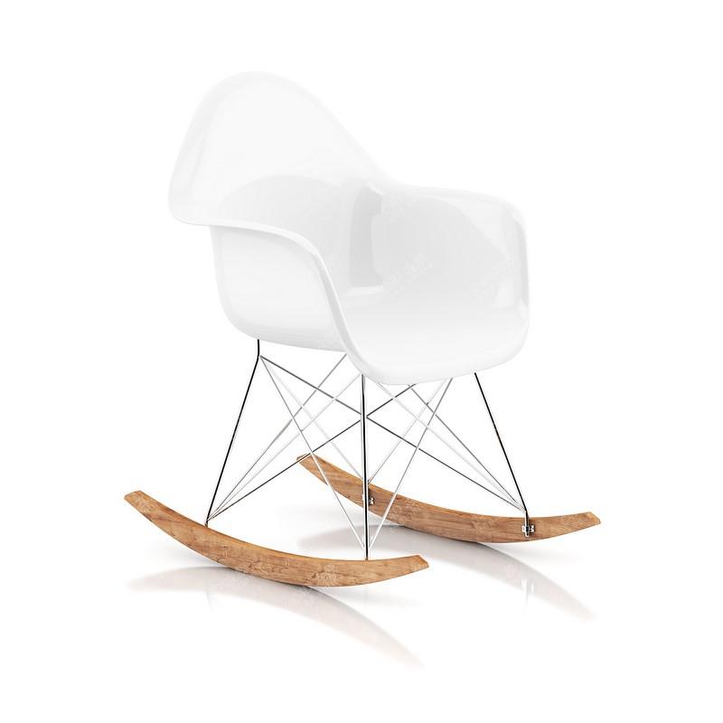 现代白色简约艺术家具椅子模型