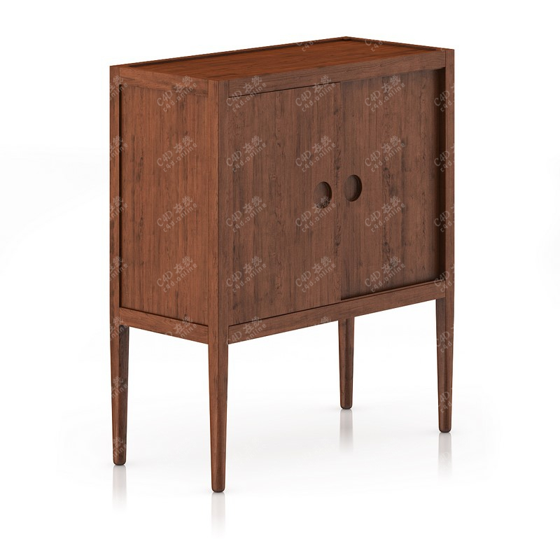 木头柜子储物柜收纳柜家具模型