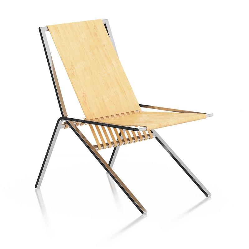 木质椅子躺椅凉椅模型