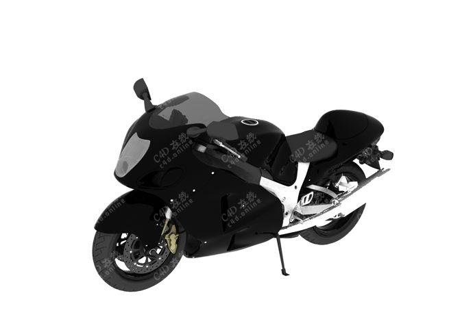 黑色摩托车机车重机车模型免费下载
