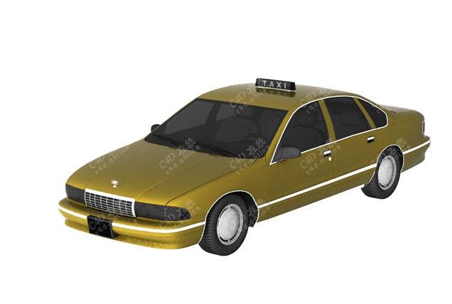 出租车taxi汽车模型免费下载