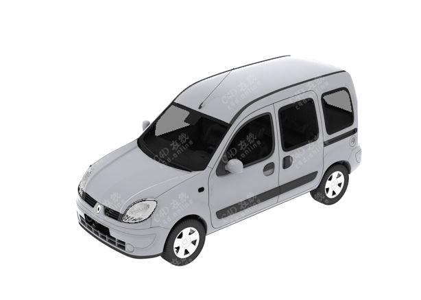 白色suv面包车箱式汽车模型