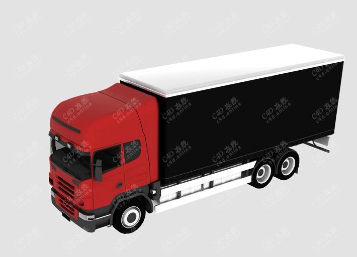 卡车大货车快递车汽车模型