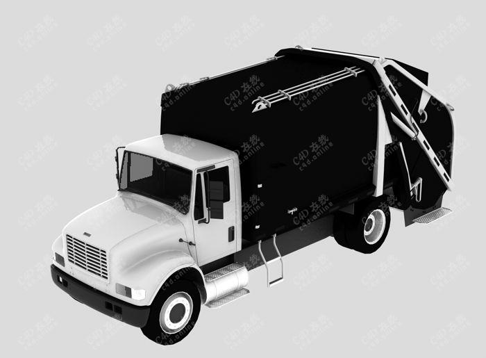 垃圾车回收车模型免费下载