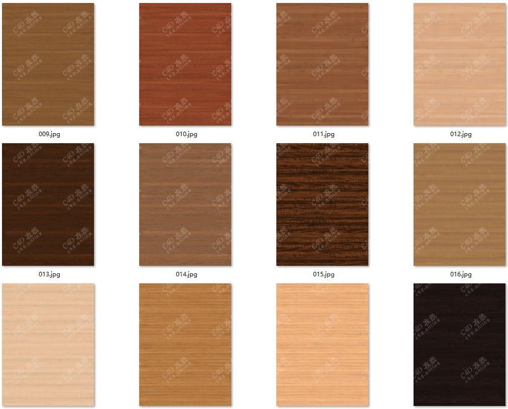 120张超清木质木纹贴图合集