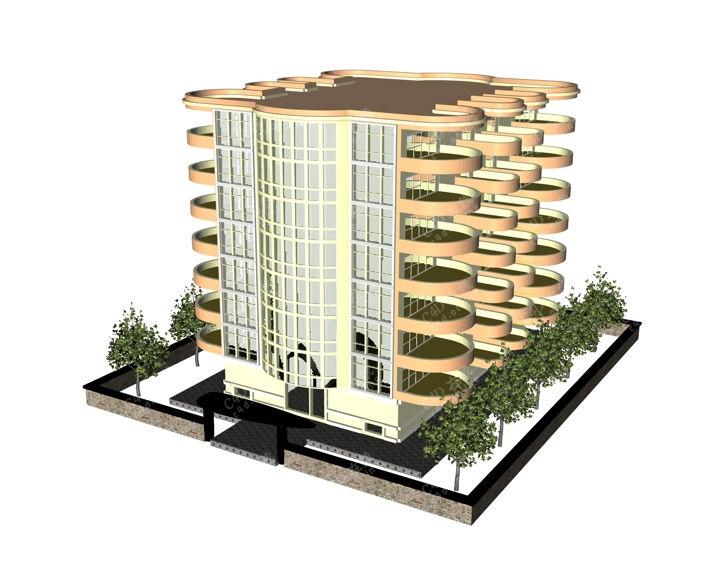 社区小区房子房屋商品房楼盘模型免费下载