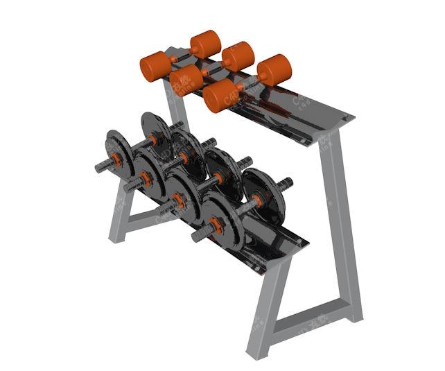 健身器材哑铃运动器械模型