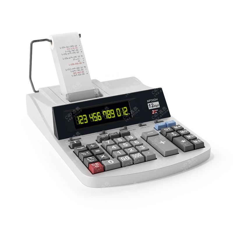 办公设备发票机打单机计算机模型