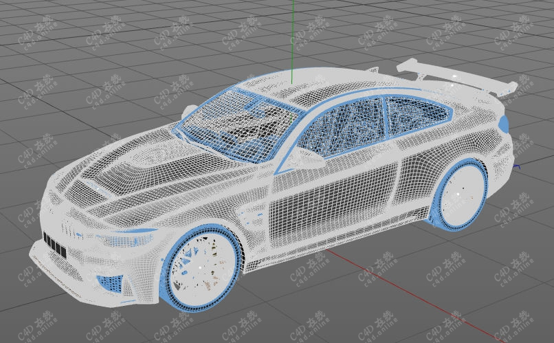 高精度宝马汽车模型