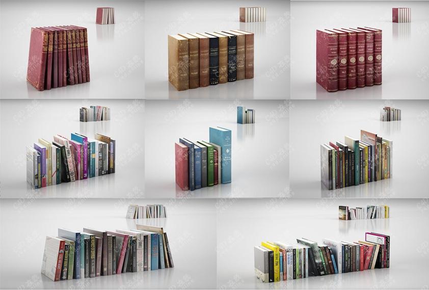 外国书籍装饰书字典课本书籍书本模型