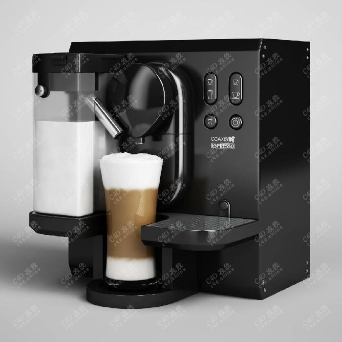 咖啡机饮料机研磨器厨具模型