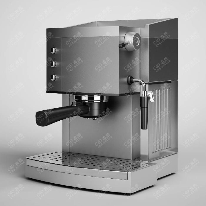 饮料机榨汁机咖啡机奶茶机设备模型