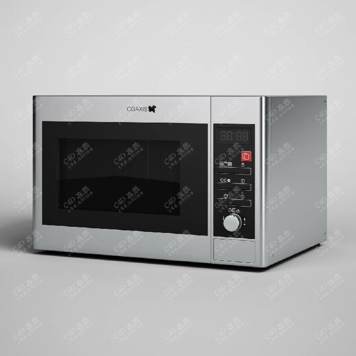 家用微波炉烤箱电器设备模型