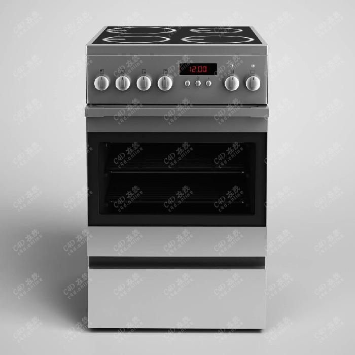 烤箱烤肉机保温风干机电器模型