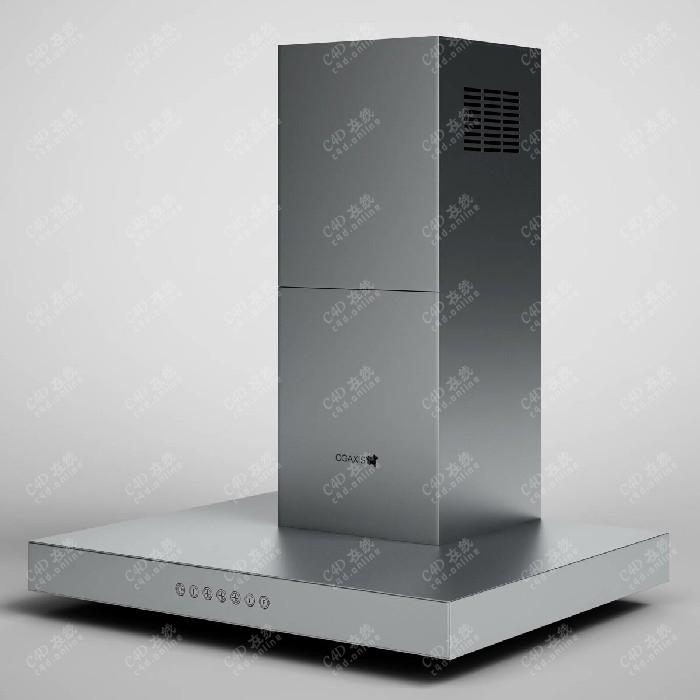 油烟机抽烟机厨房电器设备模型