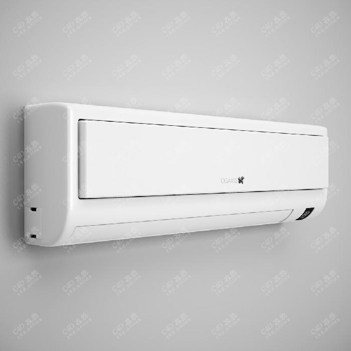 白色现代空调主机模型