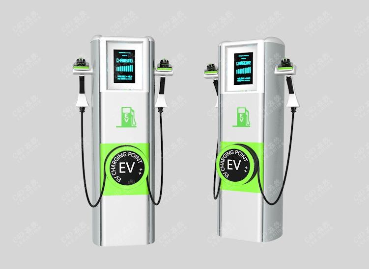 电动汽车充电桩新能源设备模型