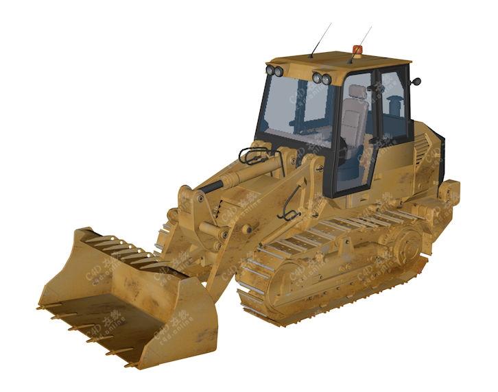 重型推土车工程车模型