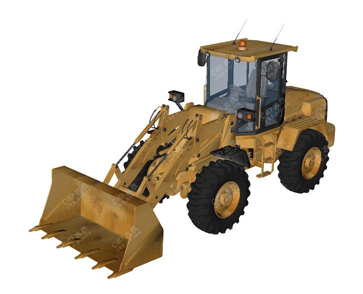 精品小型工程车推土车模型