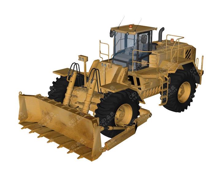 精品大型推土车模型